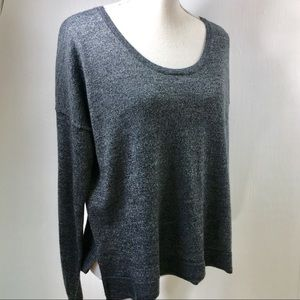 Madewell Southstar Wool Blend Pullover Gray. L